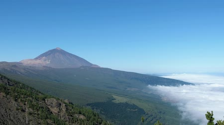 Mountain landscape above clouds, Pico del Teide  Mount Teide, Tenerife Canary Islands