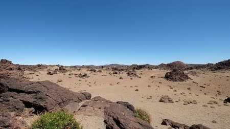 Rocky desert landscape with rocks and blue sky, Teide, Tenerife