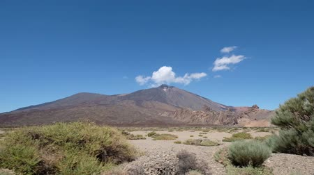 Desert landscape and mountain view on Pico del Teide, Tenerife Stock Footage
