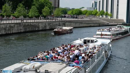 bundestag : Spree at government district in Berlin, Germany