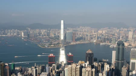 central business district : Skyline of HongKong, view from Victoria Peak