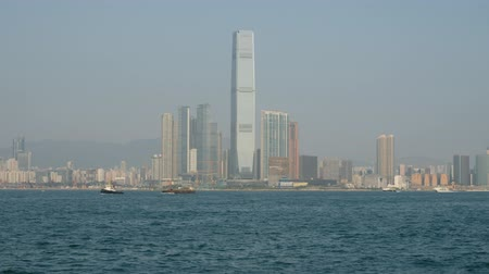 icc : Skyline of West Kowloon, Hong Kong, view from Hong Kong Island coast