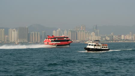 icc : Speed boat ferry boat on Victoria Harbor, Hong Kong
