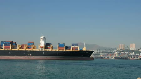 tersane : Freight boats and container ships on Victoria Harbor near Cargo Terminus