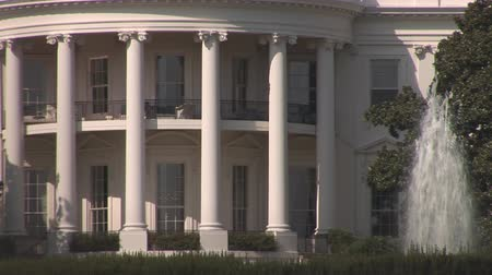 democrats : Close shot of The White House in Washington, DC Stock Footage