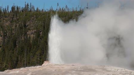 gejzír : Old Faithful in Yellowstone National Park