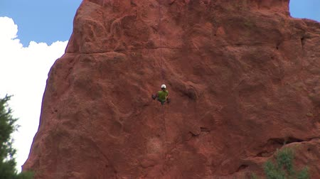wspinaczka : Climber at the Garden of the Gods