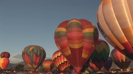 from air : Hot air balloon festival in Colorado Springs
