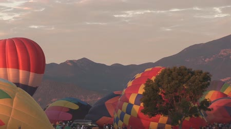 from air : Hot air balloons at beginning of festival