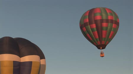 from air : Hot air balloons ascending Stock Footage
