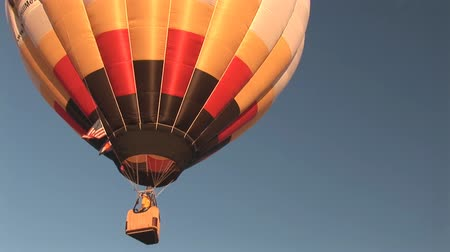 from air : Hot air balloon Stock Footage
