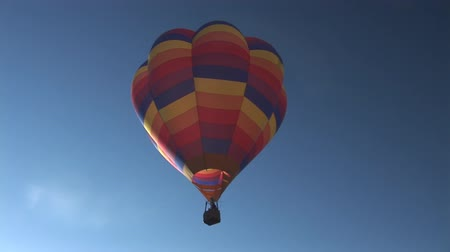 from air : Hot air balloon lift off Stock Footage