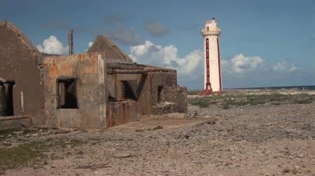 deteriorated : Old ruin and lighthouse