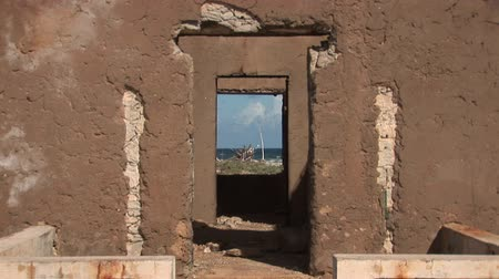 deteriorated : Old ruin and ocean