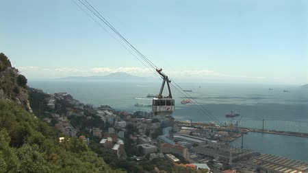 İspanya : Cable car - Gibraltar Stok Video