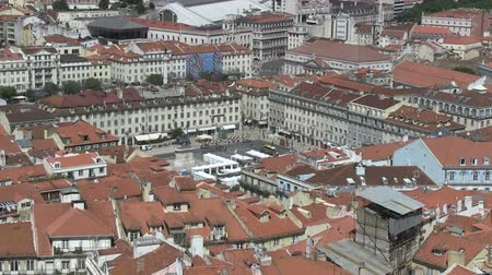lissabon : Rossio Square in Lissabon, Portugal Stockvideo