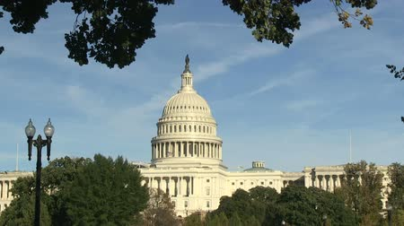 The US Capitol on Capitol Hill in Washington, DC Wideo