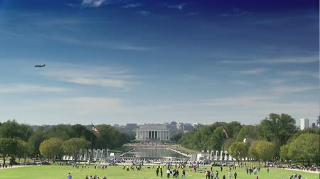The Lincoln Memorial on the National Mall in Washington, DC Stok Video