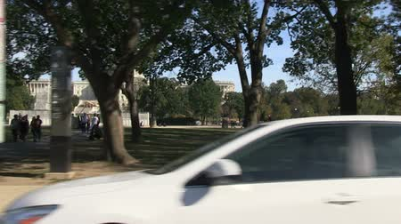 Driving past the US Capitol in Washington, DC