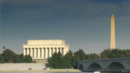 reflexionando : El Lincoln Memorial y el Monumento a Washington en Washington, DC