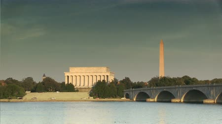 Time lapse of The Lincoln Memorial and Washington Monument in Washington, DC