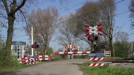 Tram crossing in The Netherlands