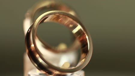 halkalar : The beauty wedding ring Stok Video