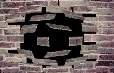 anima : Magic brick wall Stock Footage