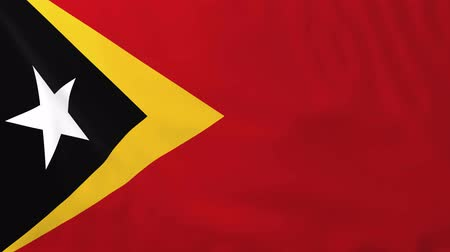 east timor : Flag of East Timor, slow motion waving. Rendered using official design and colors.