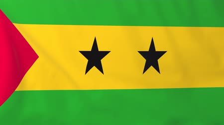 tome : Flag of Sao Tome. Rendered using official design and colors. Seamless loop.