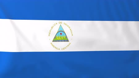 nicaraguan : Flag of Nicaragua. Rendered using official design and colors. Seamless loop.