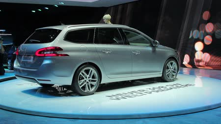 auto show : Shveytsariya.Zheneva. March 4-7 2014: 84th International Motor Show in Geneva. Peugeot 308 sw