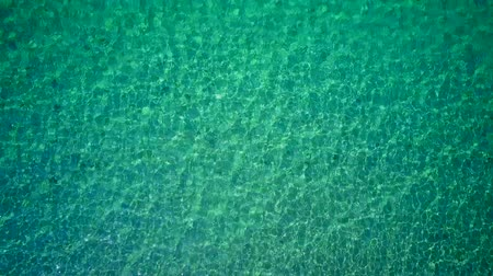 macedonia : Water background aerial shot, Sithonia, Greece Stock Footage