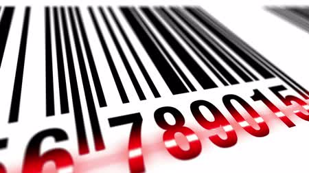 paketleme : Loop: EAN bar code scanning process, seamless Stok Video