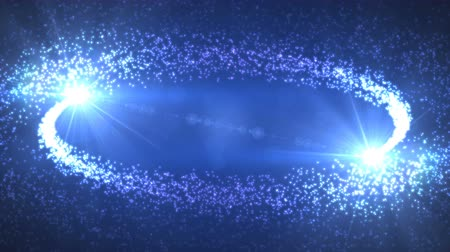 yaşama gücü : Motion graphics background displaying two comets coming closing together and resulting in Big Bang explosion