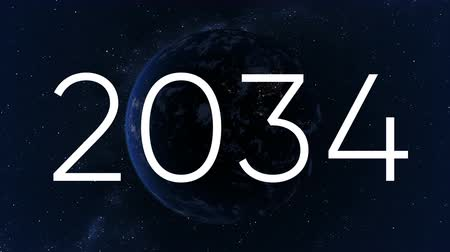 tick : Time goes by, concept, years running over rotating Earth Stock Footage