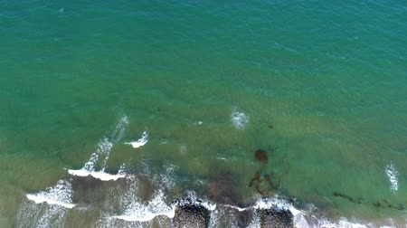 bird's eye view : Aerial view of the Japanese sea and beach