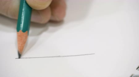 exercício : Small hand drawing on blank paper with a pencil.