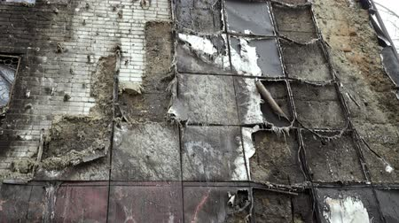 decomposition : Part of the building damaged by fire.