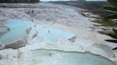 pia : Travertines with turquoise water in Pamukkale.