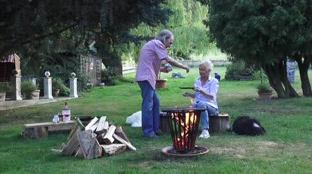 restful : Salt and tarragon spice up the fried eggs that the pretty couple fried around the campfire