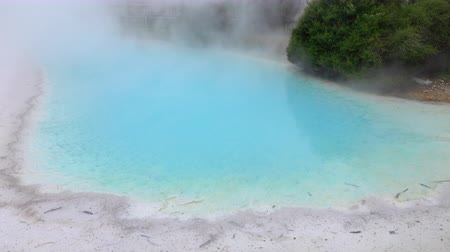Absolutely beautiful geothermal mineral hot water spring steaming