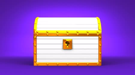 tesouro : White Treasure Chest On Purple Background