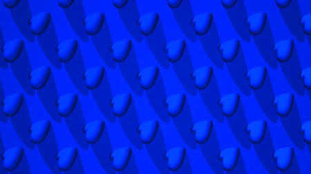 consecutivo : Blue Hearts Abstract.Loop able 3D render Animation.