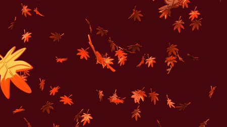 corruptible : Loop able Fallen Leaves On Brown Background