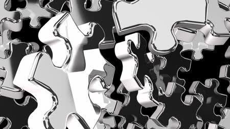 srebro : Silver Jigsaw Puzzle On Black Background