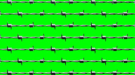 cercar : Barbwire on green chroma key
