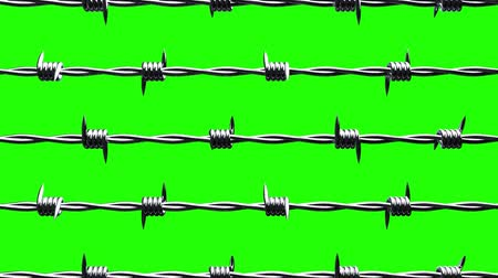 cercar : Barbwire on green chroma key. Loop able 3DCG render animation.
