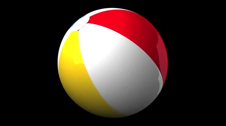 contínuo : Beach ball on black background.Loop able 3D render animation.