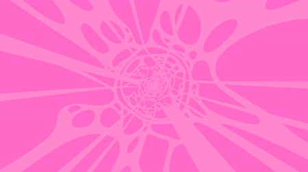 Pink Wave On Pink Background.Loop able 3D render animation.